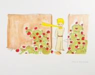 The Little Prince in The Garden Of Roses
