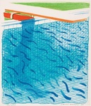 Pool Made With Paper And Blue Ink For Book (Tyler Graphics 269; M.C.A.T. 234)