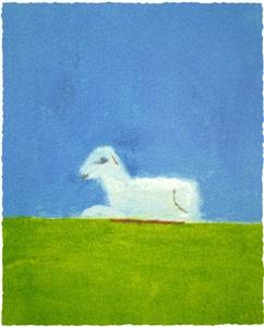 Lamb in a Green Field