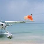 Saori on Sea Plane Wing, Dominican Republic