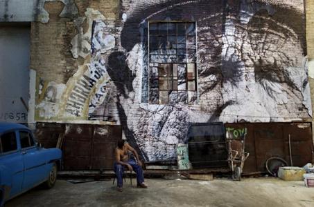 The Wrinkles of the City, La Havana, Rolando Victor Jiménez Briganti, (artwork by JR, project by JR & José Parlá) Cuba