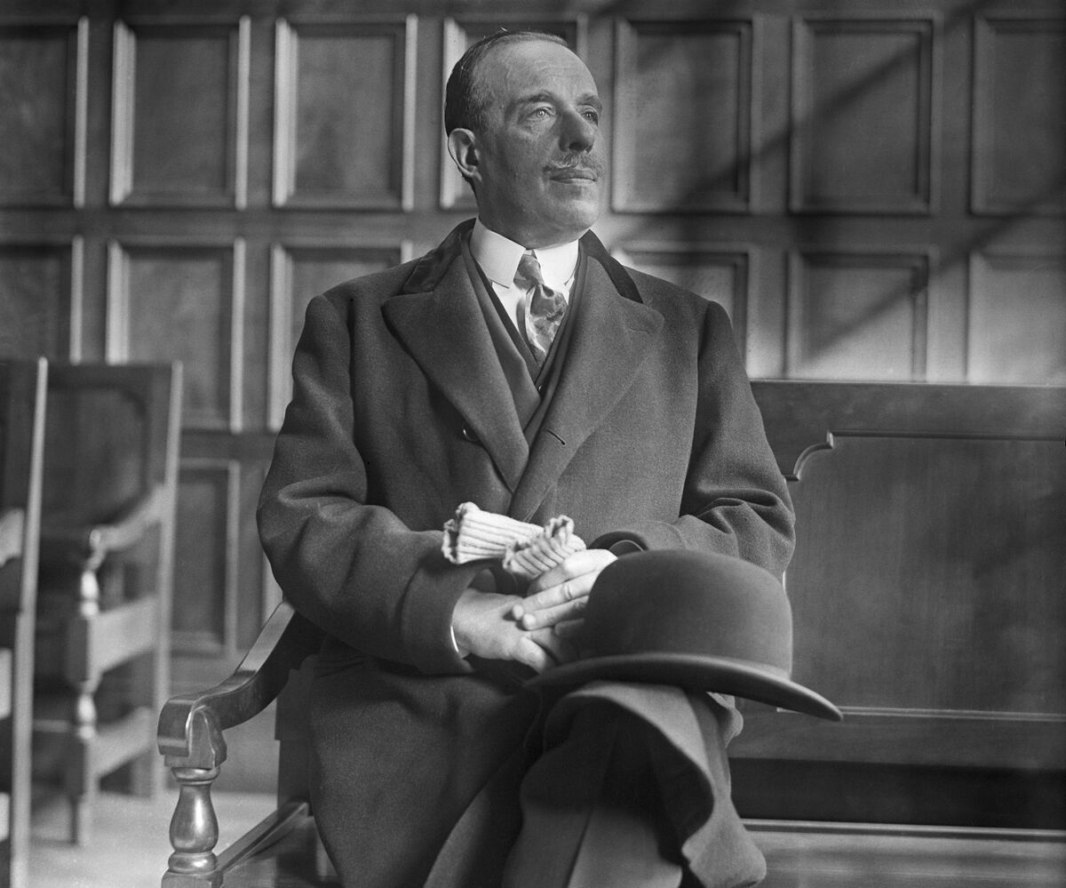 Portrait of art dealer Joseph Duveen as he appeared in court during trial of the action for $500,000, for libel brought against him by Mrs. Andree Lardoux Hahn of Kansas City, 1929. Photo by Bettmann/Contributor via Getty Images.