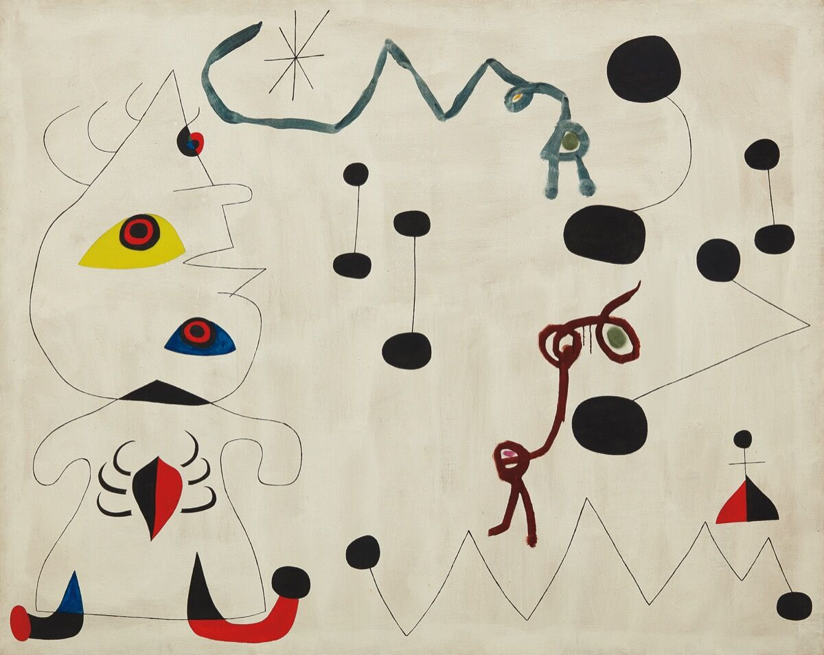 Joan Miró, Femme dans la nuit, 1945.  Courtesy of Phillips.