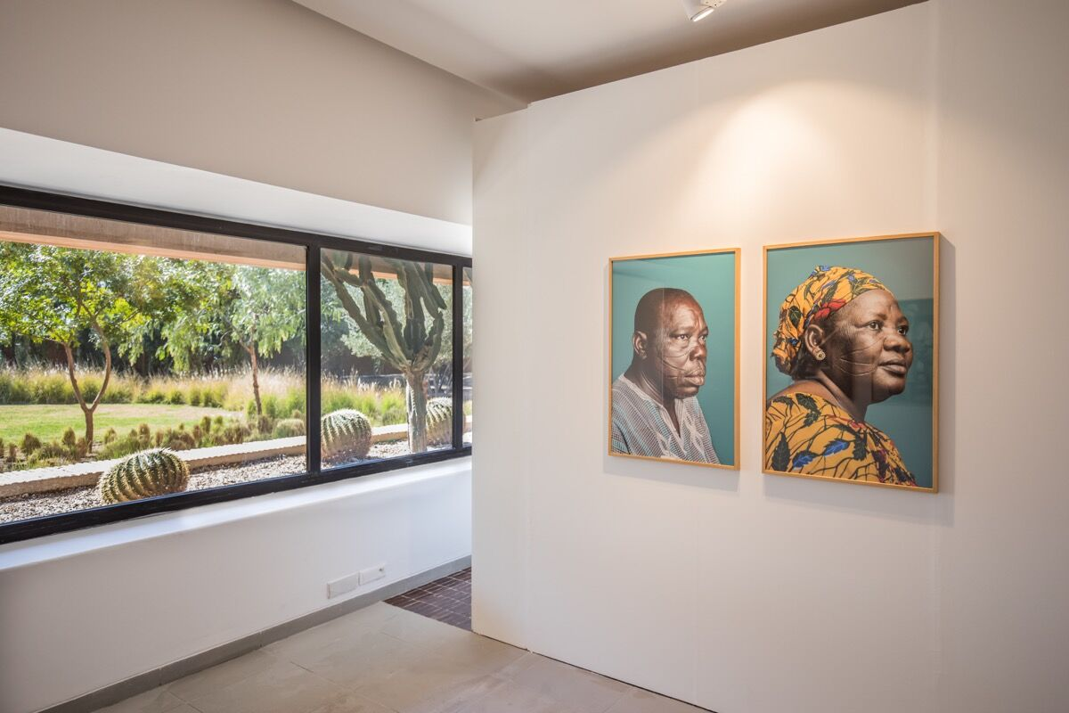 """Installation image of """"Africa Is No Island"""" at MACAAL. Photo by Saad Alami. Courtesy of The Museum of African Contemporary Art Al Maaden (MACAAL)."""