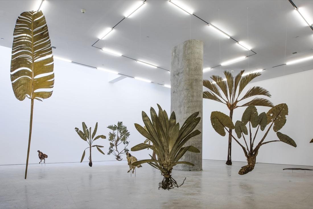 """Installation view of """"Julius von Bismarck: Good Weather,"""" Marlborough Contemporary. Courtesy of Marlborough Contemporary."""