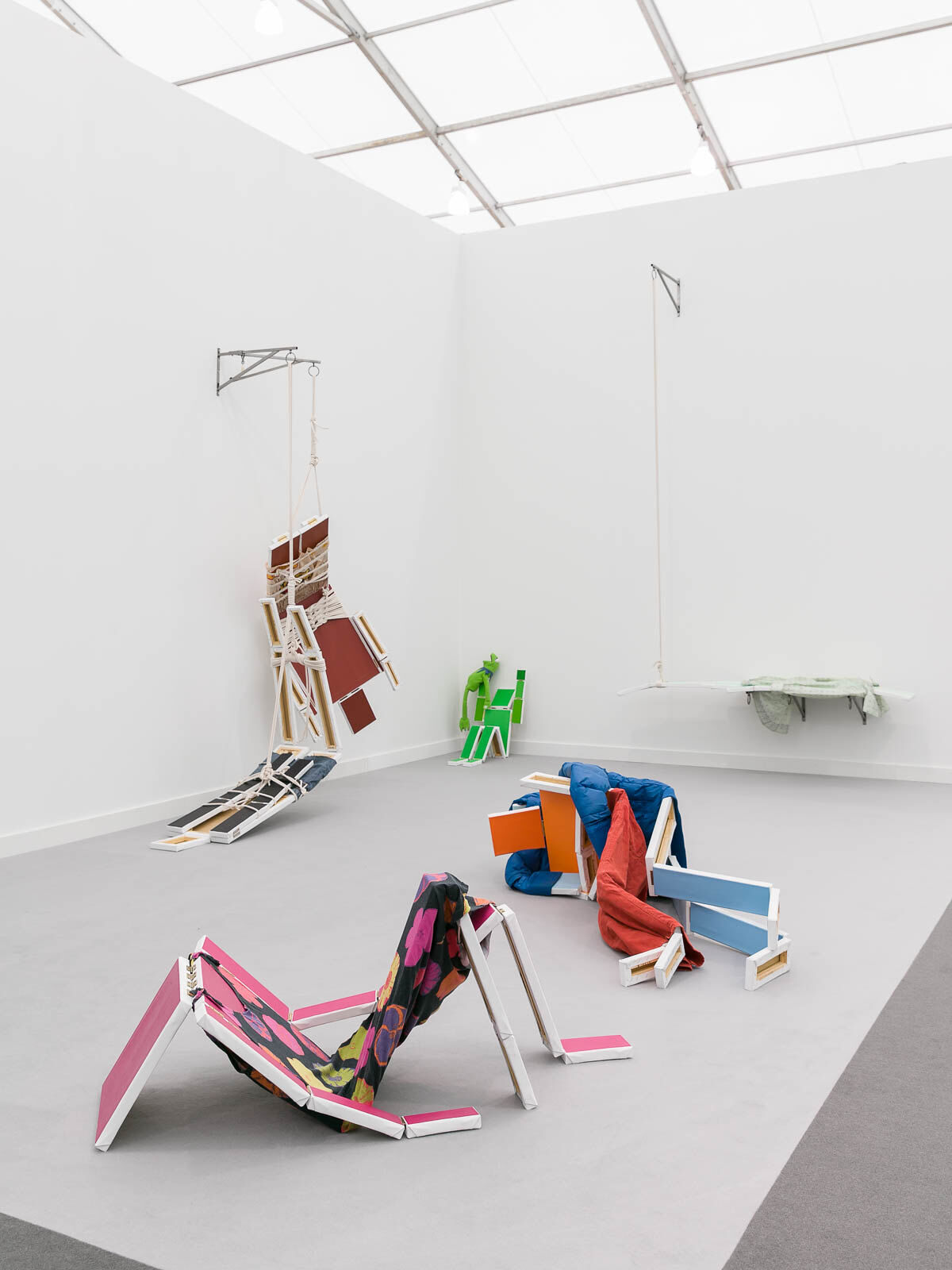 Installation view of Isla Flotante's booth at Frieze New York, 2019. Photo by Mark Blower. Courtesy of Mark Blower/Frieze.