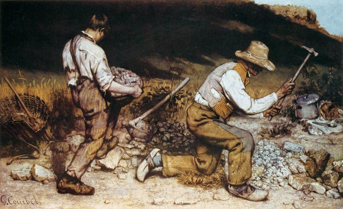 Gustave Courbet, The Stone Breakers, 1849. Image via Wikimedia Commons.