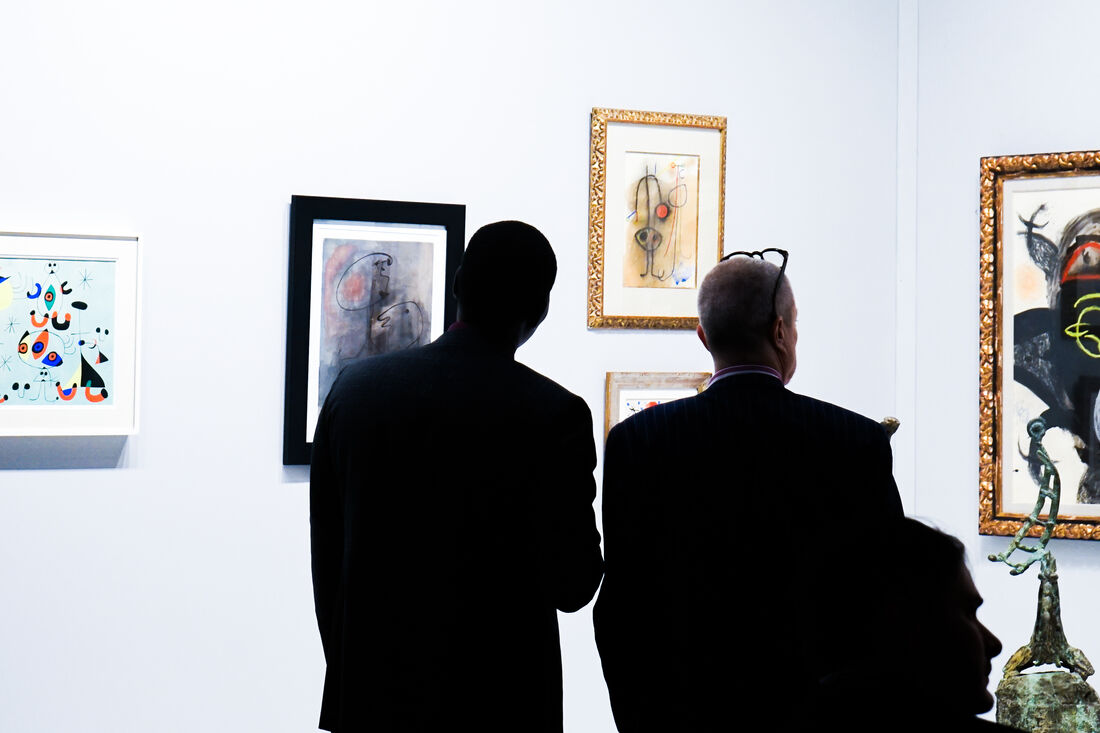 Helly Nahmad Gallery - TEFAF New York Spring; Photography by Kirsten Chilstrom.