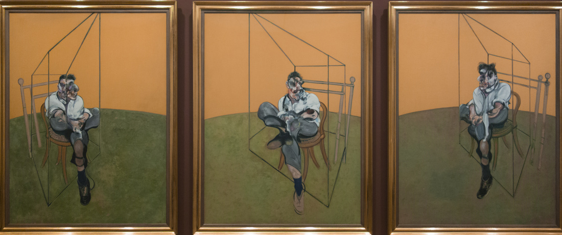 Francis Bacon, Three Studies of Lucian Freud, 1969. Photo by Alan, via Flickr.