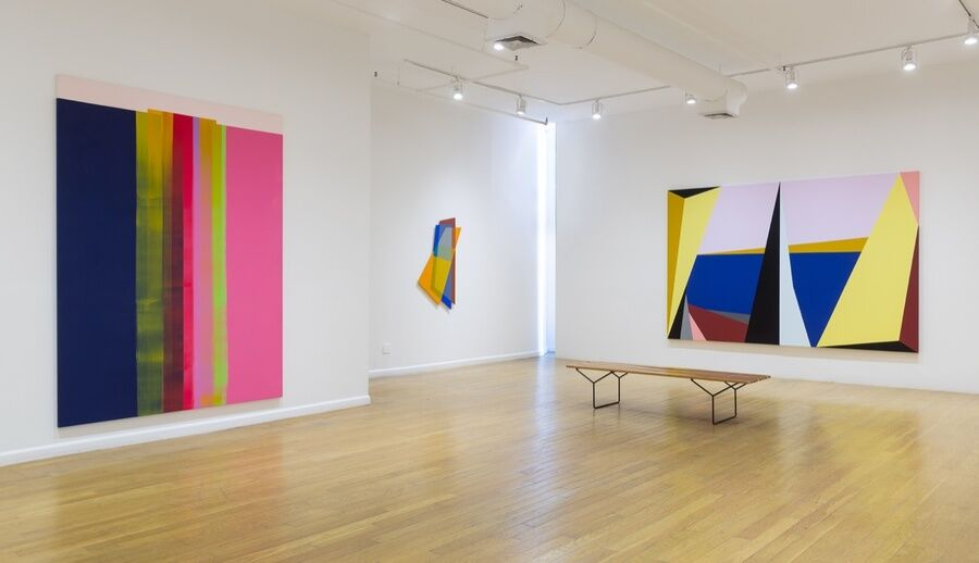 "Installation view of ""With the Eyes of Others."" Photo by Etienne Frossard. Courtesy of Elizabeth Dee."