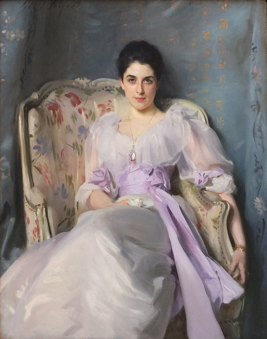 John Singer Sargent, Portrait of Lady Agnew of Lochnaw, 1892. Image via Wikimedia Commons.