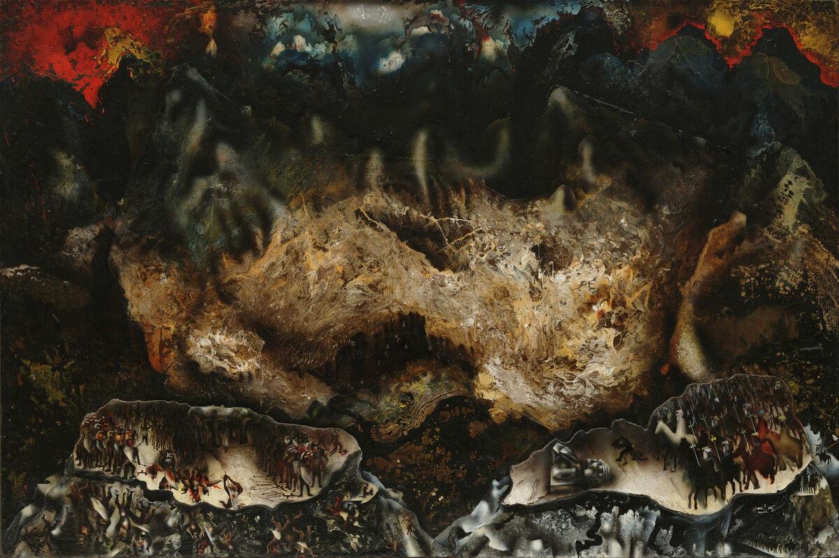 David Alfaro Siqueiros, Collectif Suicide, 1936. © 2017 Siqueiros David Alfaro / Société des droits des artistes (ARS), New York / SOMAAP, Mexique. Courtoisie du Musée d'Art Moderne.