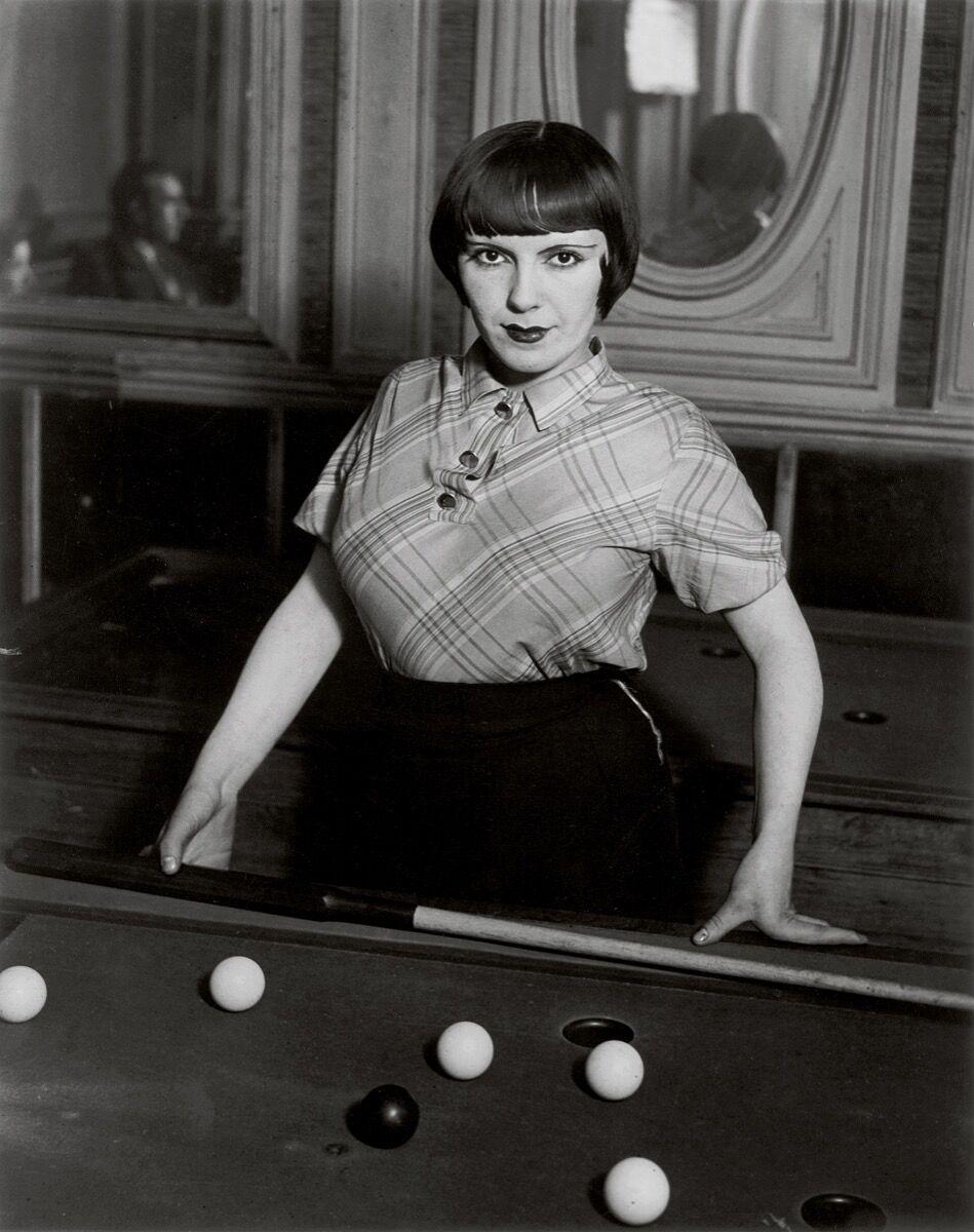 Brassaï,  Billiard Player, Boulevard de Rochechouart , 1932–33. © Estate Brassaï Succession, Paris. Courtesy of the Estate Brassaï Succession, Paris;