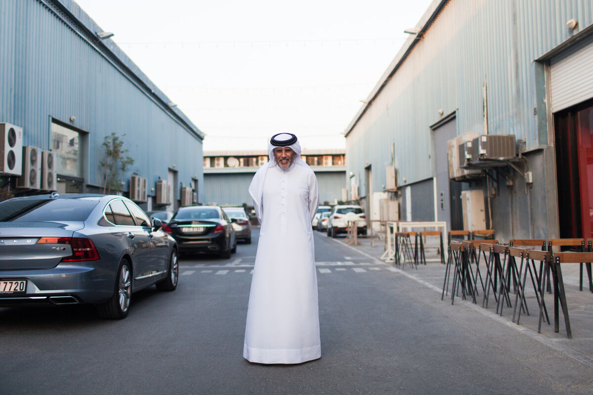 Portrait of Abdelmonem Bin Eisa Alserkal on Alserkal Avenue, Dubai, by Anna Maria Nielsen for Artsy.