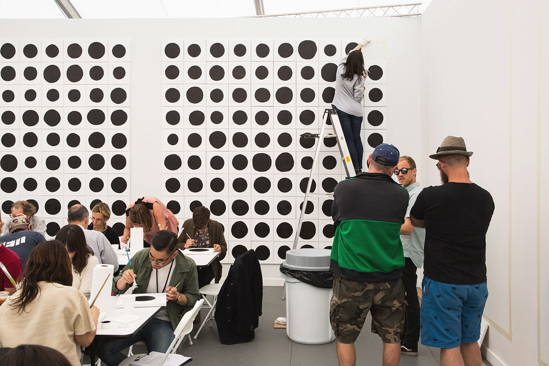Photo of Gavin Brown's Enterprise's booth at Frieze New York 2015 by Marco Scozzaro. Courtesy of Marco Scozzaro/Frieze