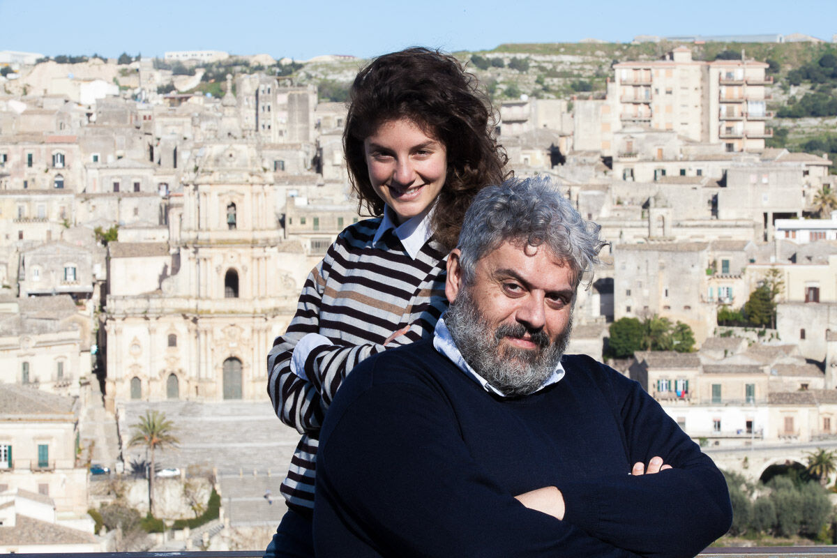 Sveva D'Antonio, partner, and Corrado Gugliotta, founder. Photo by Francesco D'Amore, courtesy of Laveronica Arte Contemporanea.