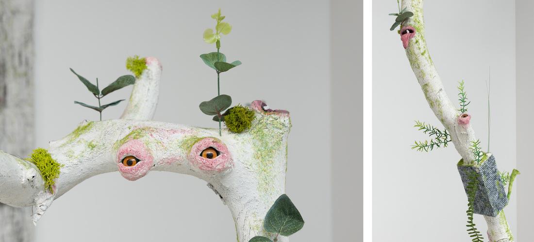 "Details ofVeit Laurent Kurz's ""Herba-4 Parasyte Series,"" 2015, at Johan Berggren's booth, Art Berlin Contemporary, 2015. Courtesy the gallery."