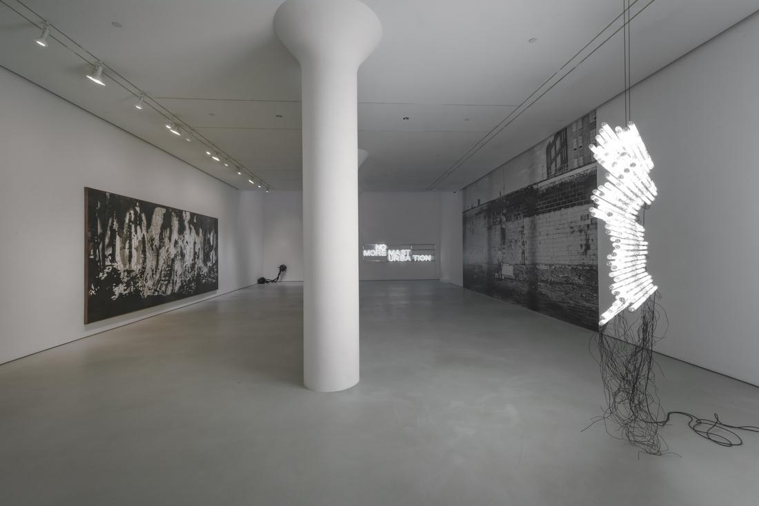 """Monica Bonvicini, installation view of """"RE pleasure RUN"""" at Mitchell-Innes & Nash, NY, 2017. Photo: Adam Reich.© Monica Bonvicini; Courtesy of the artist and Mitchell-Innes & Nash, NY"""