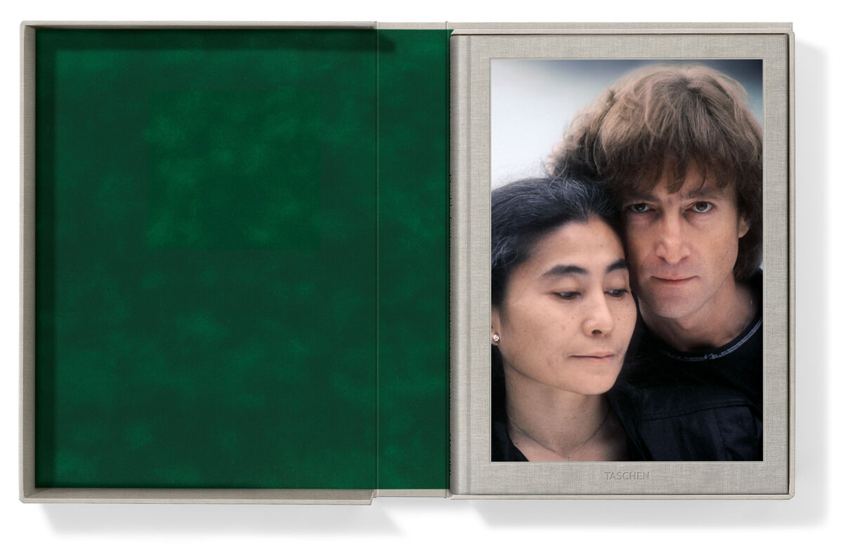 Kishin Shinoyama. John Lennon & Yoko Ono. Double Fantasy. Josh Baker. Hardcover volume in clamshell box, cloth-bound, 12.3 x 17.3 in., 174 pages 157/10× 114/5in39.9 × 30 cm. Edition of 125. Courtesy TASCHEN.