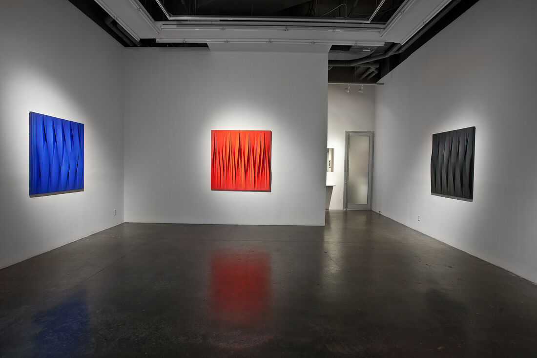"Installation view of ""Synchronicity"" at UNIX Gallery, New York. Courtesy UNIX Gallery."