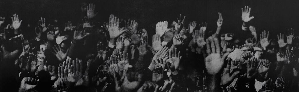 Glenn Ligon, Hands, 1996. Luhring Augustine, New York, Brooklyn.
