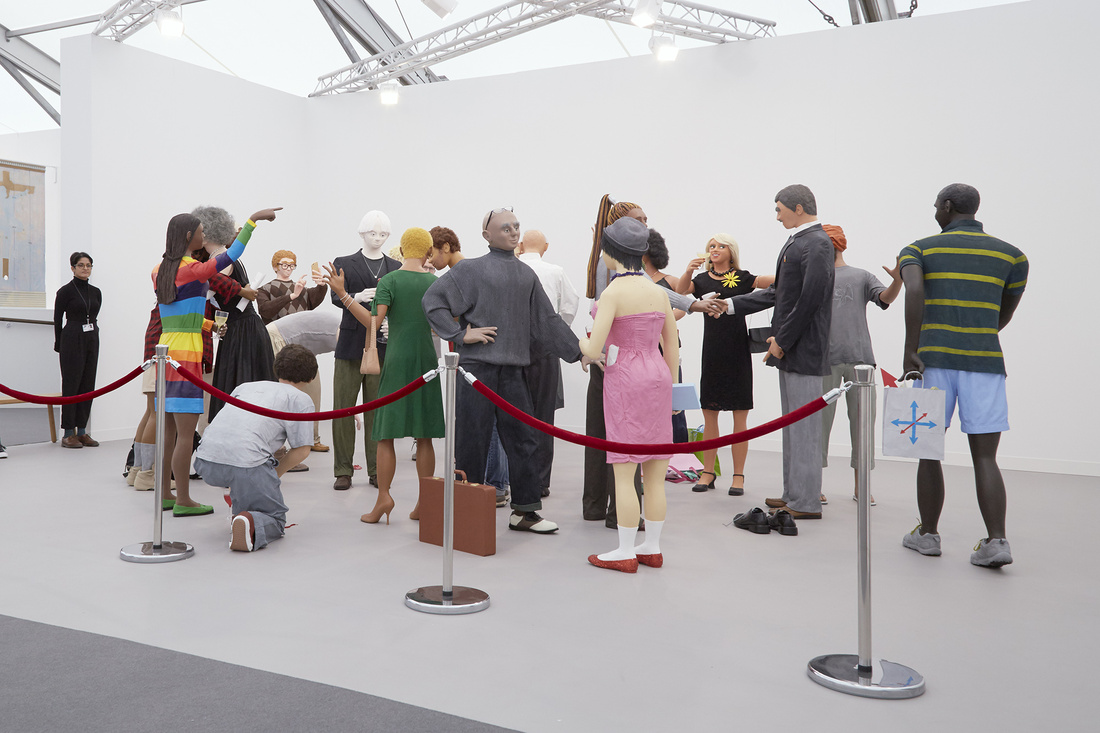 Stephen Friedman Gallery's booth at Frieze London, 2015. Photo by Benjamin Westoby for Artsy.