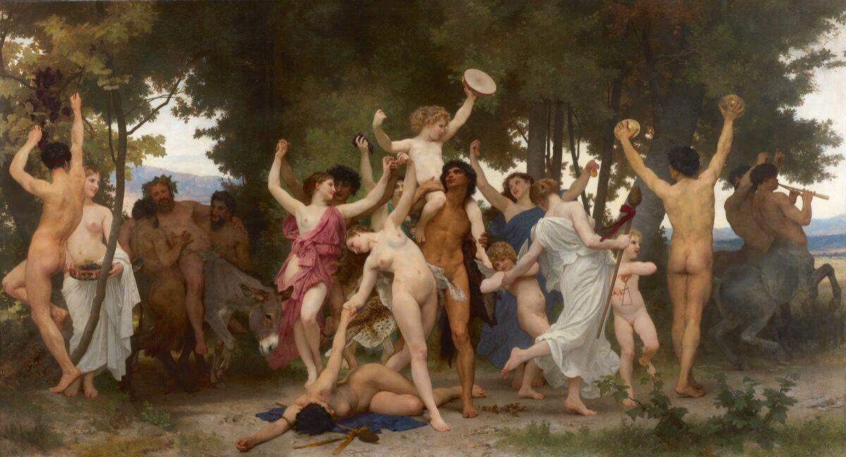 William Bouguereau, La Jeunesse De Bacchus, 1884. Courtesy of Sotheby's.