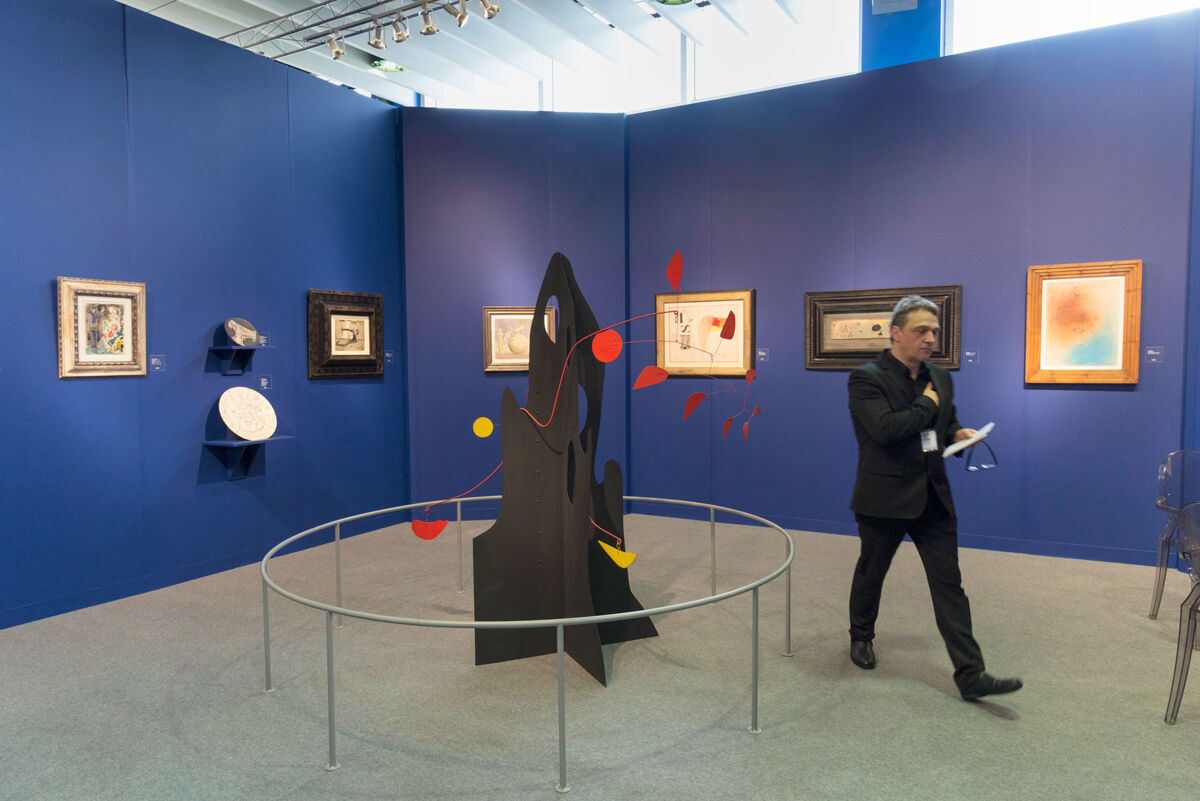 Installation view of Mayoral's booth at The Armory Show, 2017. Photo by Adam Reich for Artsy.