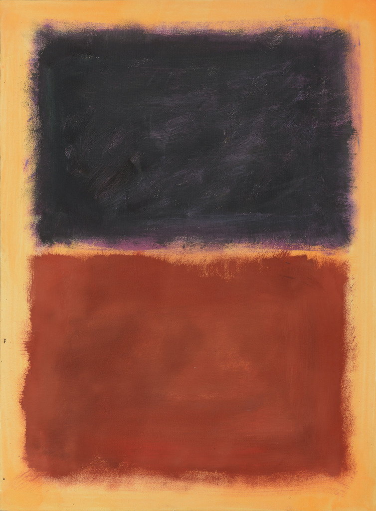 Pei-Shen Qian painting in the style of Mark Rothko. Courtesy of Luke Nikas, courtesy of th Winterthur Museum.