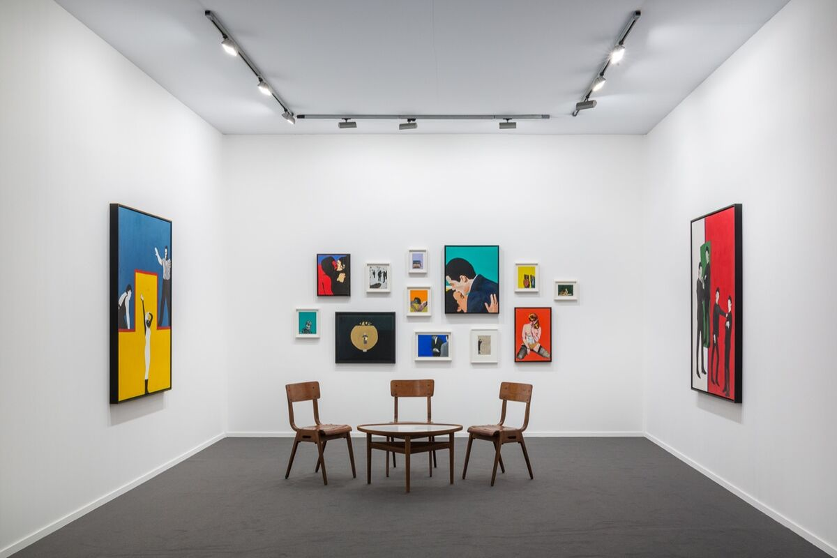 Installation view of Garth Greenan Gallery's booth at Frieze Masters, 2018. Courtesy of the gallery.