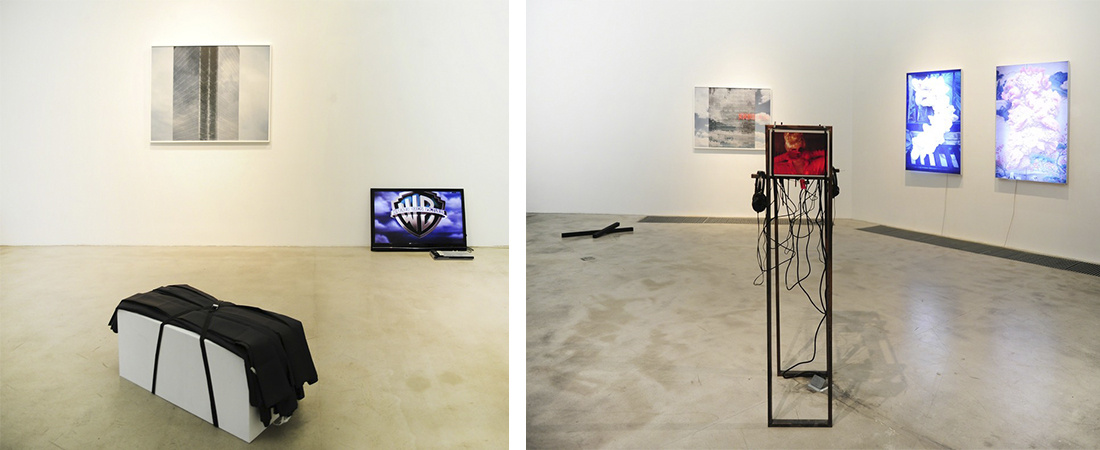 "Installation view of ""Newnewspeak,'' courtesy Intelligentsia Gallery."