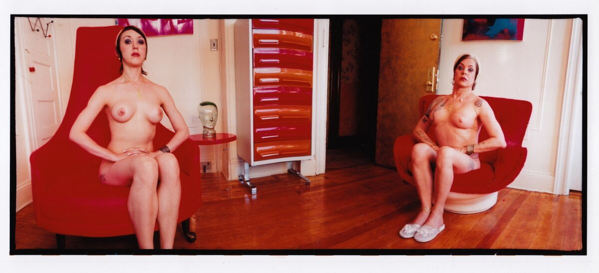 Breyer P-orridge, Red Chair Posed, 2008. Courtesy of the artist and INVISIBLE EXPORTS.