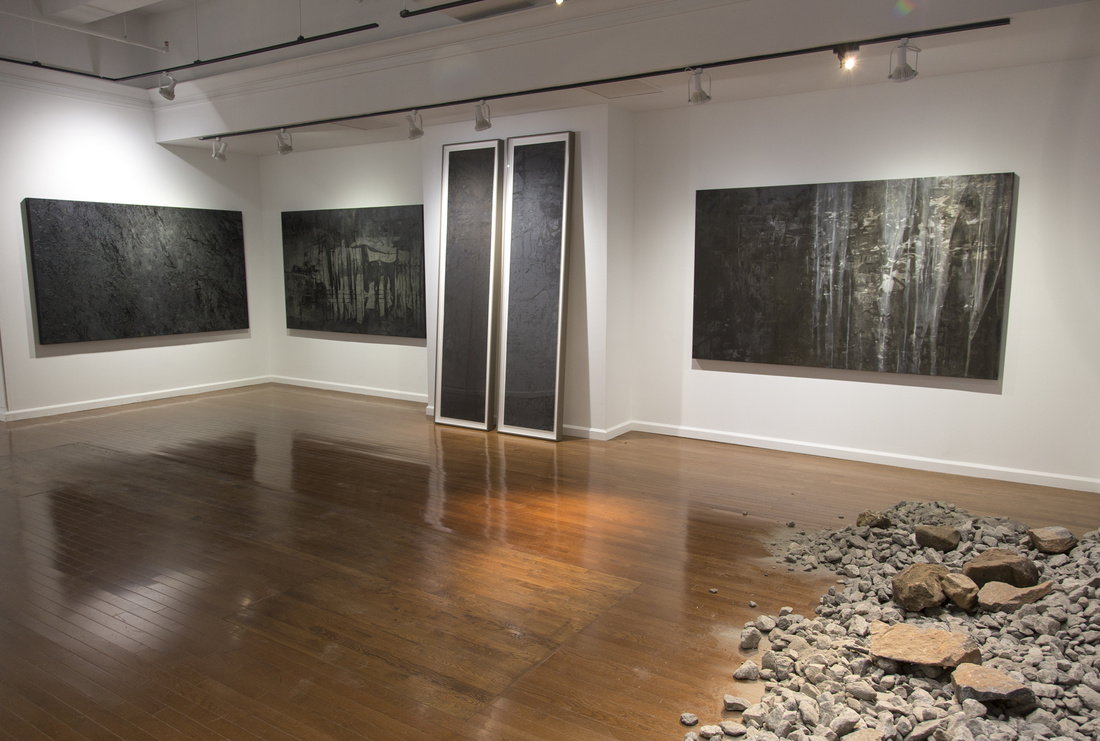 "Installation view of ""Building Absence: New Paintings,"" Stux Gallery, New York. Courtesy Stux Gallery and the artist"