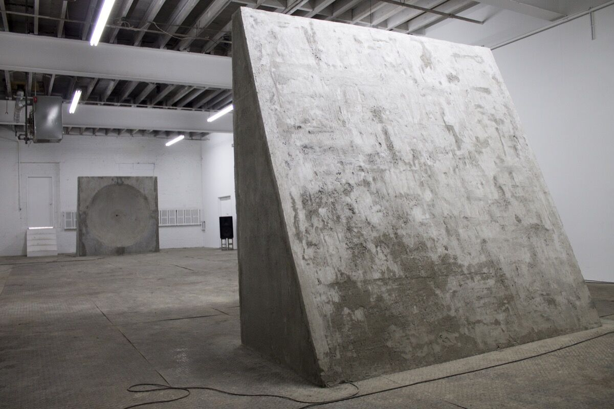 Installation view of Tim Bruniges, Mirros, 2014. Courtesy of Signal.