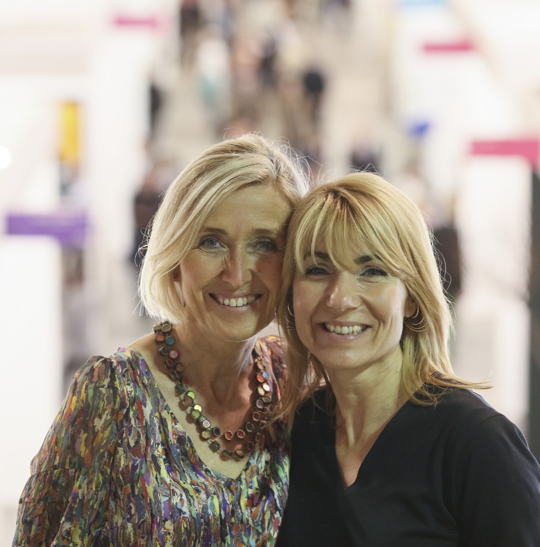 Portrait of Anne Vierstraete and Katerina Gregos. Photo by Kristof Vrancken.