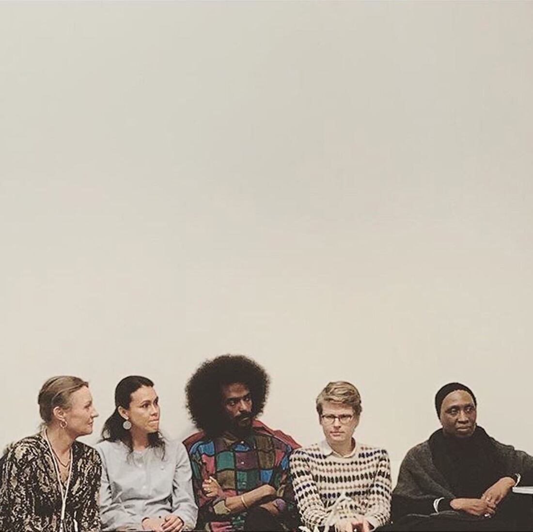 Eva-Lotta Flach (Galleri Flach), Macarena Olmus Dusant (art historian & independentwriter), Samuel Girma (Konsthall C), Theodor Ringborg (Bonniers Konsthall) and Karen Alexander (curator) on diversity in the art world. Photo: Corina Wahlin