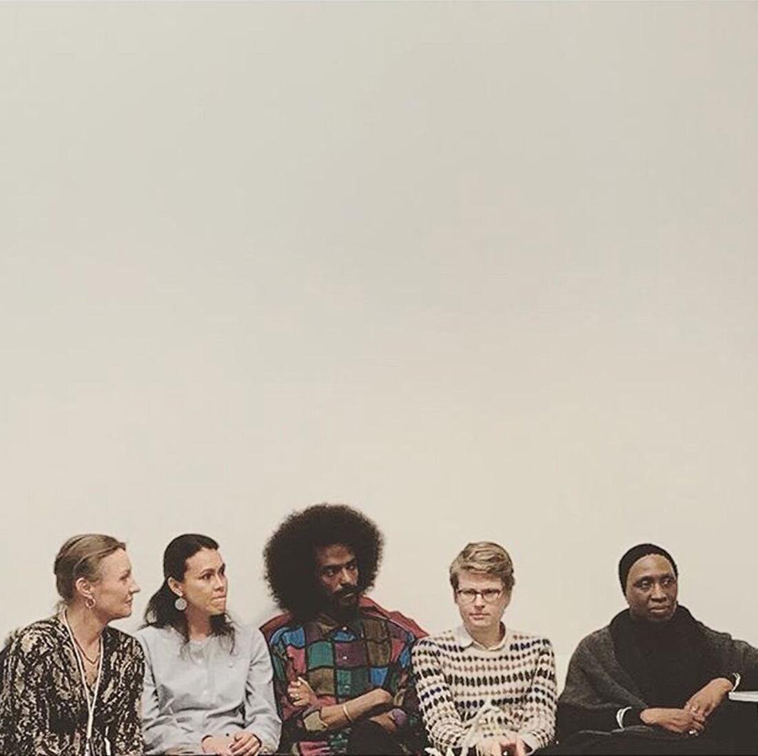 Eva-Lotta Flach (Galleri Flach), Macarena Olmus Dusant (art historian & independentwriter), Samuel Girma (Konsthall C), Theodor Ringborg (Bonniers Konsthall) and Karen Alexander (curator) on diversity in the art world. Photo: Corina Wahlin