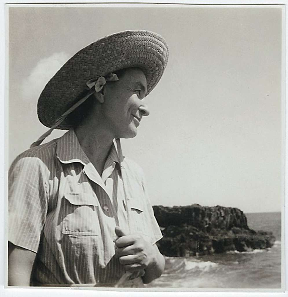 Portrait of Georgia O'Keeffe in Hawaii, 1939. Via Wikimedia Commons.