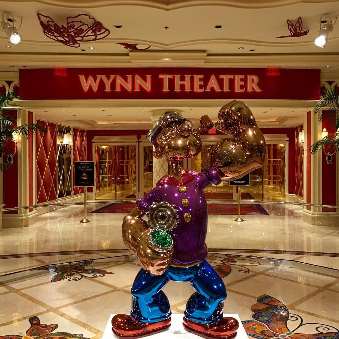 Jeff Koons's Popeye sculpture at the Wynn Theater in Las Vegas. Photo by Phil Guest, via Flickr.