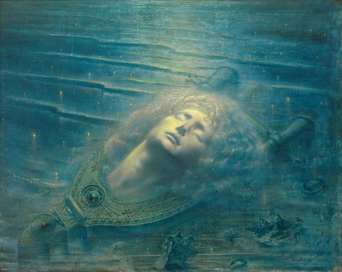 Jean Delville, the Death of Orpheus, 1893. © 2017 ARS, New York/SABAM, Brussels. Photo © Royal Museums of Fine Arts.