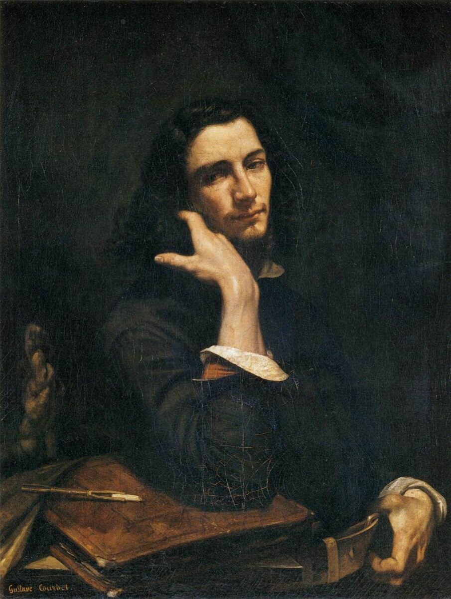 Gustave Courbet, The Man with the Leather Belt, 1945–46. Image via Wikimedia Commons.