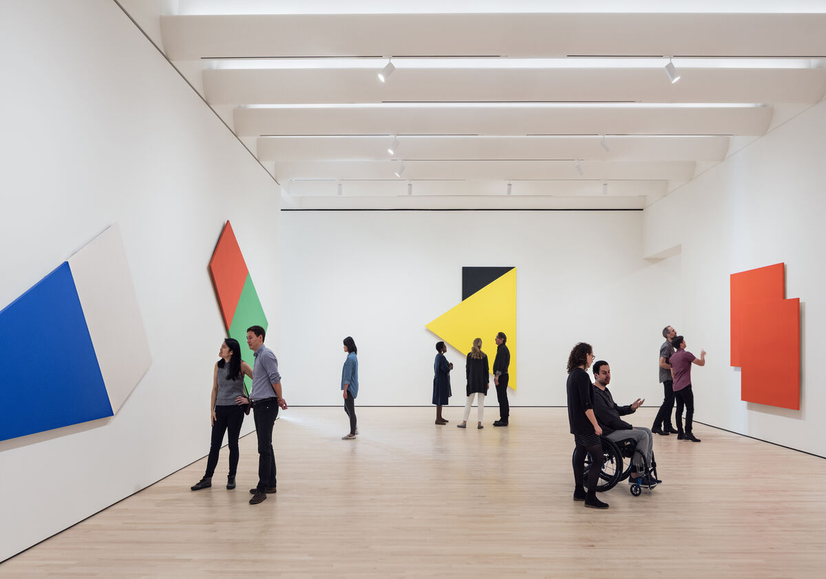 "Installation view of  ""Approaching American Abstraction: The Fisher Collection exhibition."" Photo ©  Henrik Kam, courtesy of SFMOMA."