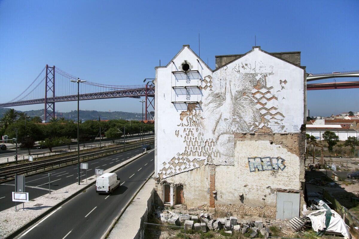 Artwork by Vhils, Lisbon. Photo courtesy of the artist.