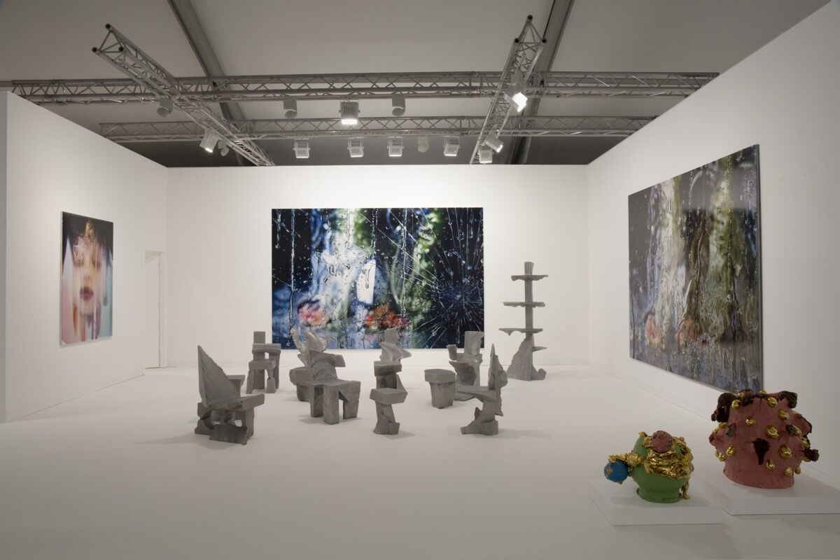 Installation view of Salon 94's booth at Frieze London, 2018. Courtesy of the gallery.