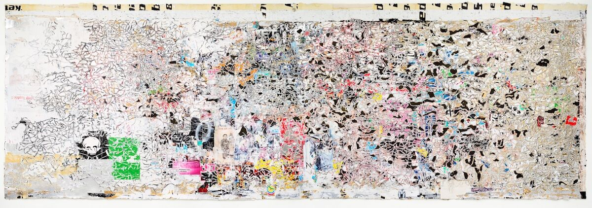 Mark Bradford, Helter Skelter II, 2007. Est. in excess of $8 million. Courtesy Phillips.