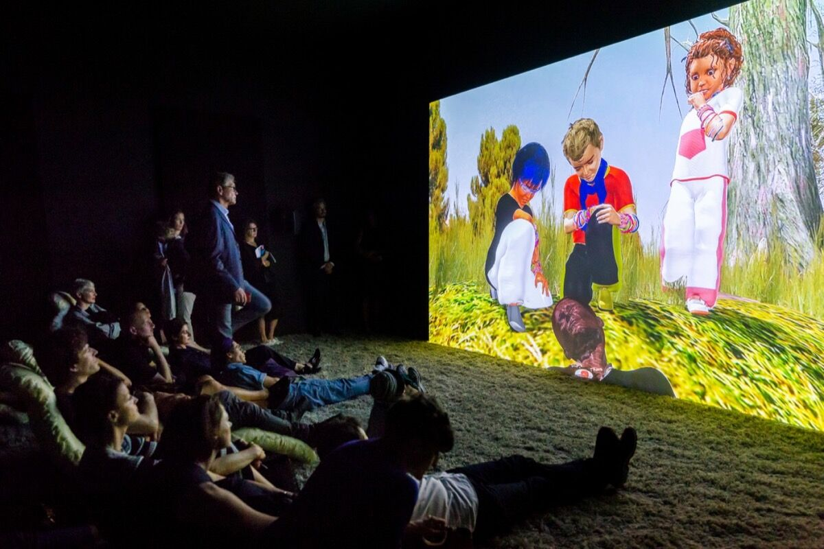 Jon Rafman, Dream Journal 2016–2017 , 2017 at Sprüth Mager's booth at Art Basel in Basel, 2018. © Art Basel.