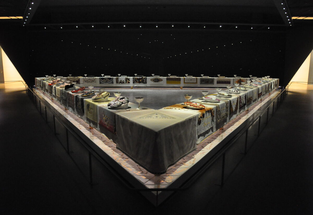 Just Chicago, The Dinner Party. © 2017 Judy Chicago / Artists Rights Society (ARS), New York. Photo by Amaury Laporte, via Flickr.