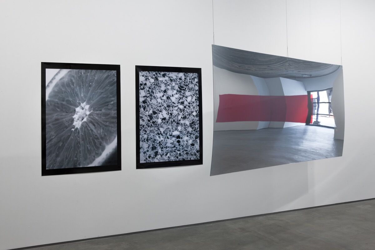 """Installation view of work by Damien Roach in """"Someone Has Stolen Our Tent"""" at Simon Preston Gallery, 2012. Courtesy of Simon Preston Gallery."""