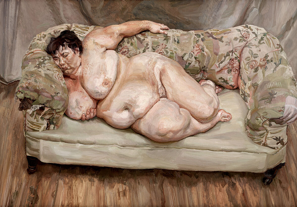 Lucian Freud, Benefits Supervisor Sleeping, 1995. Courtesy of Acquavella Galleries.