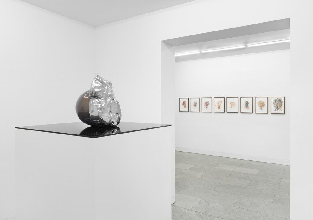 "Installation view of ""DRAWINGS FROM THE HAND,"" courtesy of DITTRICH & SCHLECHTRIEM."